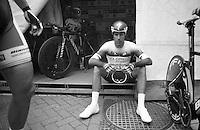 Tour of Belgium 2013.stage 3: iTT..Frantisek Rabon (CZE) zoning in before the TT.