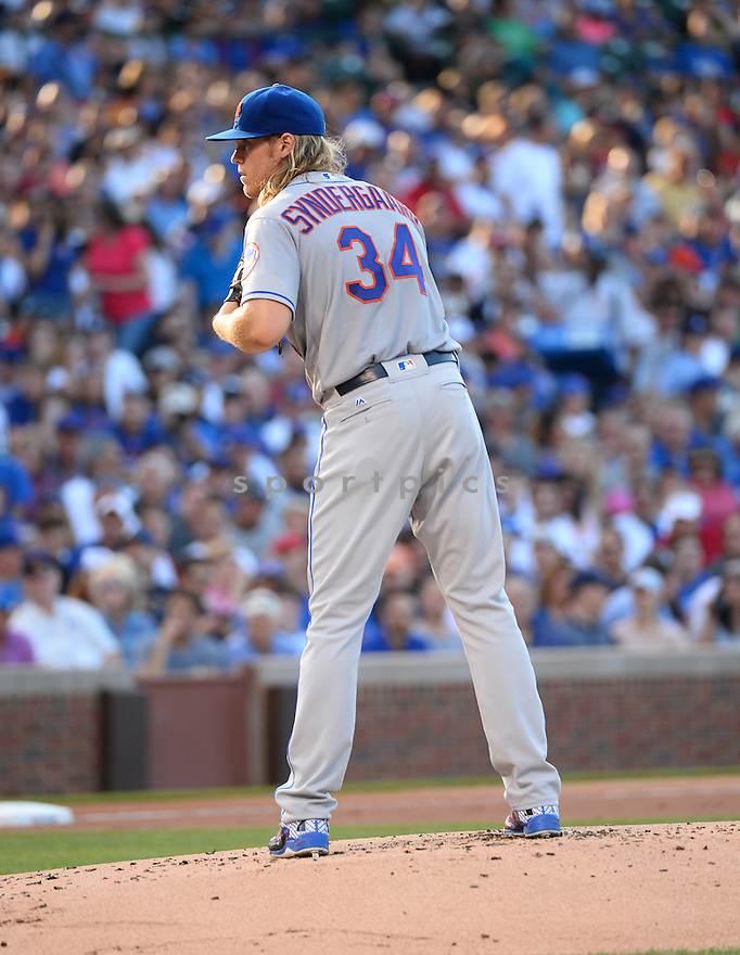 New York Mets Noah Snydergaard (34) during a game against the Chicago Cubs on July 19, 2016 at Wrigley Field in Chicago, IL. The Mets beat the Cubs 2-1.