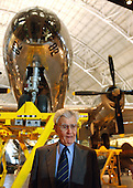 Chantilly, VA - December 11, 2003 -- Brigadier General Paul W. Tibbets (United States Air Force - retired) stands in front of the Enola Gay, the B-29 aircraft he piloted on August 6, 1945 that dropped the first atomic bomb on Hiroshima, Japan at the Steven F. Udvar-Hazy Center dedication in Chantilly, Virginia on December 11, 2003.  .Credit: Ron Sachs / CNP.(RESTRICTION: NO New York or New Jersey Newspapers or newspapers within a 75 mile radius of New York City)