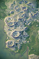 Pseudocraters, Lake Myvatn, northern Iceland - aerial