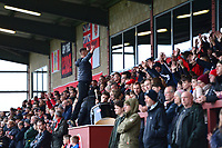 Fleetwood Town fans show their support<br /> <br /> Photographer Richard Martin-Roberts/CameraSport<br /> <br /> The EFL Sky Bet League One - Fleetwood Town v Shrewsbury Town - Saturday 13th October 2018 - Highbury Stadium - Fleetwood<br /> <br /> World Copyright &not;&copy; 2018 CameraSport. All rights reserved. 43 Linden Ave. Countesthorpe. Leicester. England. LE8 5PG - Tel: +44 (0) 116 277 4147 - admin@camerasport.com - www.camerasport.com