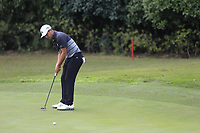 Xander Schauffele (USA) on the 8th green  during the 1st round at the WGC HSBC Champions 2018, Sheshan Golf Club, Shanghai, China. 25/10/2018.<br />