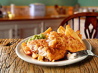 British Food -  Battered Fish And Chips