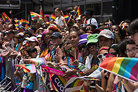 NEW YORK, NY - JUNE 25: general public during the 2017 New York City Pride March on June 25, 2017 in New York City. (Photo by Joana Toro/VIEWPress/Corbis via Getty Images)