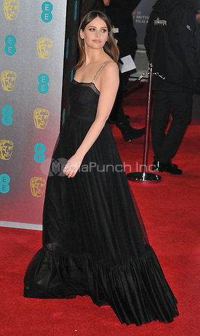 Felicity Jones at the EE British Academy Film Awards (BAFTAs) 2017, Royal Albert Hall, Kensington Gore, London, England, UK, on Sunday 12 February 2017.<br /> CAP/CAN<br /> &copy;CAN/Capital Pictures /MediaPunch ***NORTH AND SOUTH AMERICAS ONLY***