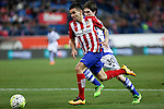 Atletico de Madrid´s Correa and Real Sociedad´s Elustondo during 2015-16 La Liga match between Atletico de Madrid and Real Sociedad at Vicente Calderon stadium in Madrid, Spain. March 01, 2016. (ALTERPHOTOS/Victor Blanco)