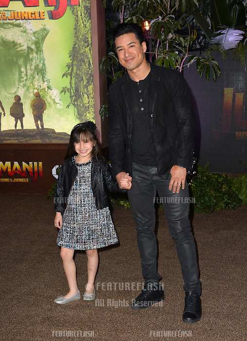 Mario Lopez &amp; Gia Francesca Lopez at the Los Angeles premiere of &quot;Jumanji: Welcome To the Jungle&quot; at the TCL Chinese Theatre, Hollywood, USA 11 Dec. 2017<br /> Picture: Paul Smith/Featureflash/SilverHub 0208 004 5359 sales@silverhubmedia.com