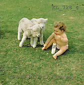Interlitho, CHILDREN, photos, baby, 2 lambs(KL728/4,#K#) Kinder, niños