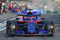 March 16, 2019: Daniil Kvyat (RUS) #26 from the Red Bull Toro Rosso Honda team leaves the pit to start the qualification session at the 2019 Australian Formula One Grand Prix at Albert Park, Melbourne, Australia. Photo Sydney Low