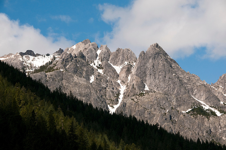 Castle Crags at Castle Crags State Park.  Photo copyright Lee Foster california117985.