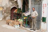 Tripoli, Libya - Vegetable Stand in Tripoli's Medina.