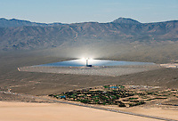 Ivanpah Solar Concentration power plant, California Mohave desert.  March 2014