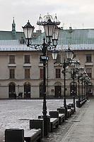 Europe/Voïvodie de Petite-Pologne/Cracovie:  Petite place du Marché -  Vieille ville (Stare Miasto) classée Patrimoine Mondial de l'UNESCO,
