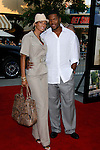"Nicole Murphy and Michael Strahan arrive at the Premiere of Columbia Pictures' ""Step Brothers"" at the Mann Village Theater on July 15, 2008 in Los Angeles, California."