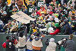 Green Bay Packers wide receiver Jordy Nelson (87) celebrates a touchdown with a Lambeau Leap during a Week 11 NFL football game against the Tampa Bay Buccaneers on November 20, 2011 in Green Bay, Wisconsin. The Packers won 35-26. (AP Photo/David Stluka)