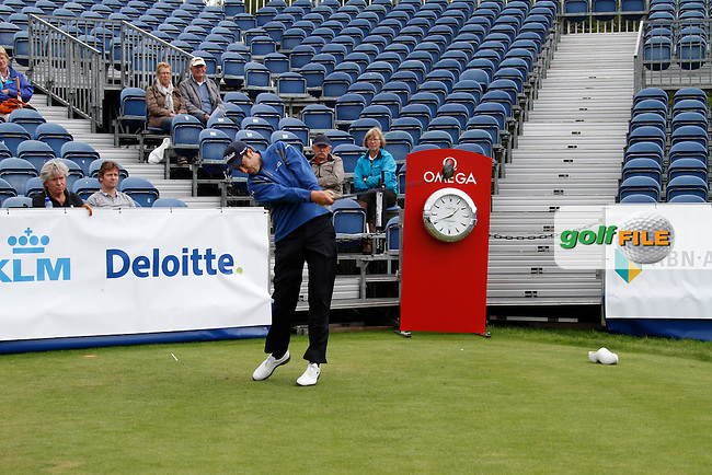 Ross Fisher (ENG) tees off on the 1st tee during Pro-Am Wednesday of the KLM Dutch Open 2011, Hilversumsche Golf Club, Hilversum, 7th September 2011. Picture Eoin Clarke/www.golffile.ie
