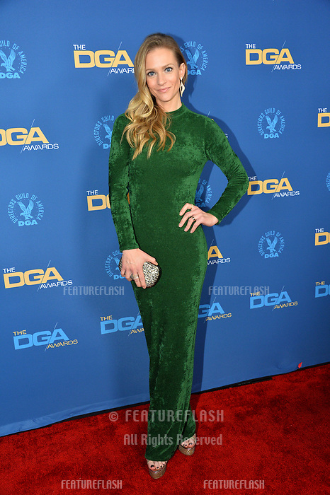 LOS ANGELES, CA. February 02, 2019: A. J. Cook at the 71st Annual Directors Guild of America Awards at the Ray Dolby Ballroom.<br /> Picture: Paul Smith/Featureflash