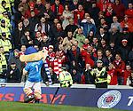 Broxi Bear with the Aberdeen fans