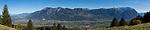 Panorama, View from Seveler Berg into the Rhine-valley and the Principality of Liechtenstein. Sevelen, St. Gallen, SG, Schweiz, Switzerland.<br /> <br /> Foto: Paul J. Trummer