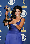 LOS ANGELES, CA. - September 20: Actress Shohreh Aghdashloo  poses in the press room at the 61st Primetime Emmy Awards held at the Nokia Theatre on September 20, 2009 in Los Angeles, California.