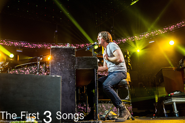 Matt Butler of NewSong performs during the 2014 Winter Jam Tour at the Wolstein Center in Cleveland, Ohio.