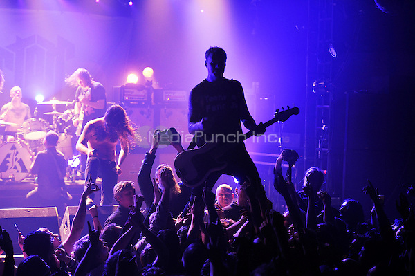 LONDON, ENGLAND - DECEMBER 5: Marvin Nygaard of 'Kvelertak' performing at Electric Ballroom , Camden on December 5, 2016 in London, England.<br /> CAP/MAR<br /> ©MAR/Capital Pictures /MediaPunch ***NORTH AND SOUTH AMERICAS ONLY***