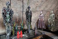 Pero Tosi<br /> Roma 03-04-2016 Terme di Diocleziano. Mostra 'In Acqua: H2O molecole di creativita'. Decine di stilisti hanno creato, per l'occasione, abiti, accessori e gioielli che richiamano l'acqua.<br /> Diocleziano Thermae. Exhibition 'In water: H2O molecules of creativity'.Tens of famous stylists created dresses, accessories and jewels that recall water.<br /> Photo Samantha Zucchi Insidefoto