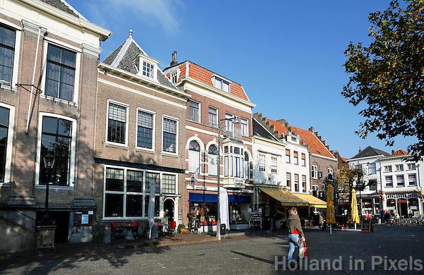 Nederland Zaltbommel 2016. Panden aan de Markt in het centrum van Zaltbommel.   Foto Berlinda van Dam / Hollandse Hoogte
