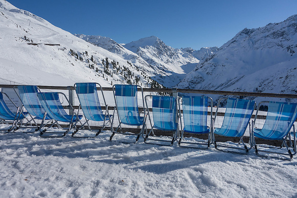 Rendlbeach at Rendl Ski Area, at St Anton, Austria,