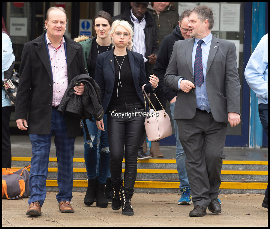 BNPS.co.uk (01202 558833)<br /> Pic: RogerArbon/BNPS<br /> <br /> Samatha Bumford(25) leaving court<br /> <br /> A wannabe singer who stalked a Miss England finalist and dedicated his Britain's Got Talent audition song to her has been jailed.<br /> <br /> Obsessed Jonathan Deal, 39, launched a campaign of harassment against glamour model Samantha Bumford after 'falling in love' with her on Facebook. <br /> <br /> Deal, an aspiring rapper whose stage name is JAYD, told her he was going to audition for BGT with a song he wrote 'dedicated to his love for her'.<br /> <br /> His infatuation culminated in him following her to the finals of Miss England in Nottingham where he tried to kiss her as she came off stage.