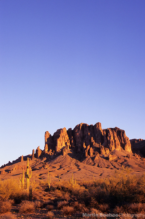 Evening light on the Superstition Mountains, Lost Dutchman State Park, Arizona