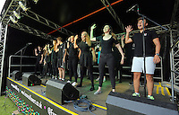 Pictured: Young people perform on stage Saturday 13 August 2016<br />Re: Grow Wild event at  Furnace to Flowers site in Ebbw Vale, Wales, UK