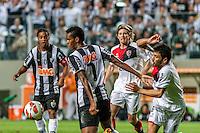 BELO HORIZONTE, MG, 10 JUNHO 2013 - LIBERTADORES - ATLÉTICO MG X Newell's Old Boys (ARG) -  Jô do Atlético Mineiro em lance contra o Newell's Old Boys (Argentina), jogo valido pela partida de volta das semi-finais da Taça Libertadores daAmérica no estádio Independencia em Belo Horizonte, na noite desta quarta-feira, 10. (FOTO: NEREU JR / BRAZIL PHOTO PRESS).