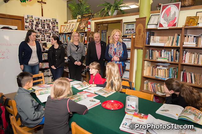 Polish Consul visiting St. Agatha's Polish Catholic Church in St. Louis, MO on Nov 9, 2013.