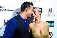 Romain Zago and Joanna Krupa attend Real Housewives of Miami Season 3 VIP Premiere Party, at Lou La Vie, Miami, FL, on August 6, 2013