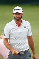 Dustin Johnson (USA) finishes on the 18th hole during the first round of the 118th U.S. Open Championship at Shinnecock Hills Golf Club in Southampton, NY, USA. 14th June 2018.<br /> Picture: Golffile | Brian Spurlock<br /> <br /> <br /> All photo usage must carry mandatory copyright credit (&copy; Golffile | Brian Spurlock)