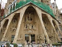 Passion Facade, Sagrada Familia Church, Barcelona, Spain by Josep Maria Subirachs