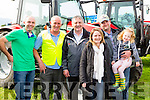 Tom spillane, Tim kissane, don Holland, Tina Holland, Tim and Emaer O'keeffe Rathmore looking at the Massey Ferguson tractors at the South Kerry Ploughing Championships in Fossa on Sunday