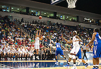 NORFOLK, VA--Joslyn Tinkle knocks down three during first round play against Hampton University at the Ted Constant Convocation Center at Old Dominion University in Norfolk, VA for the 2012 NCAA Championships. The Cardinal advance with a 73-51 win to play West Virginia on Monday, March 19.