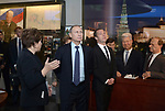 epa05041571 Russian President Vladimir Putin (2-L), Prime Minister Dmitry Medvedev (3-L)  listen to Boris Yeltsin's daughter Tatiana Yumasheva (L), as they attend unveiling of the memorial Yeltsin-center in Yekaterinburg, Russia, 25 November 2015.  EPA/ALEXEY NIKOLSKIY /SPUTNIK / KREMLIN POOL MANDATORY CREDIT