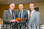 The annual Enterprise Month was officially launched on Monday with the Kerry Local Enterprise Office County Enterprise Awards at the Manor West Hotel. Pictured Tomás Hayes Head of Local Enterprise Office, Diarmuid Leen, AIB and Victor Sheahan, Senior Enterprise Development Officer