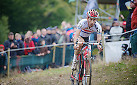 Koppenbergcross 2013<br /> <br /> British Champion Ian Field (GBR) descending