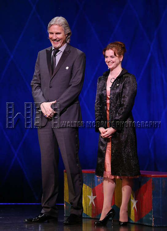 Corey Brunish, Brisa Trinchero during the 69th Annual Theatre World Awards Presentation at the Music Box Theatre in New York City on June 03, 2013.