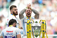 Jack Nowell of Exeter Chiefs celebrates on the winners podium. Aviva Premiership Final, between Wasps and Exeter Chiefs on May 27, 2017 at Twickenham Stadium in London, England. Photo by: Patrick Khachfe / JMP