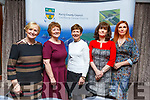 Members of the Listowel Writers Week Committee who received their Kerry County Council and Municipal District Awards at the ceremony in the Rose Hotel on Thursday night. <br /> L to r: Madeline O'Sullivan, Liz Dunne, Eilish Wren, Joanna O'Flynn and Miriam Slimming.
