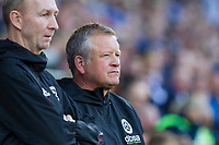 Sheffield United manager Chris Wilder ahead of the Sky Bet Championship match between Cardiff City and Sheffield United at Cardiff City Stadium, Cardiff, Wales on 15 August 2017. Photo by Mark  Hawkins / PRiME Media Images.