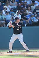 Gabe Clark (16) of the Oregon State Beavers bats during a game against the UCLA Bruins at Jackie Robinson Stadium on April 4, 2015 in Los Angeles, California. UCLA defeated Oregon State, 10-5. (Larry Goren/Four Seam Images)
