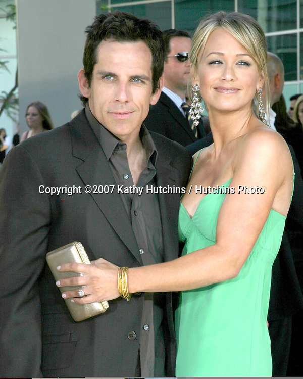 "Ben Stiller & Christine Taylor.""License to Wed"" World Premiere.Cinderama Dome Theater.Los Angeles, CA.June 25, 2007.©2007 Kathy Hutchins / Hutchins Photo...."