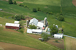 Aerial view of Dairy Farm in Central Wisconsin