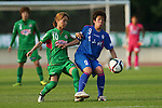 (L to R) <br /> Natsuko Hara (Beleza), <br /> Rino Nakano (Elfen), <br /> JULY 12, 2015 - Football / Soccer : <br /> 2015 Plenus Nadeshiko League Division 1 <br /> between NTV Beleza 1-0 AS Elfen Saitama <br /> at Hitachinaka Stadium, Ibaraki, Japan. <br /> (Photo by YUTAKA/AFLO SPORT)